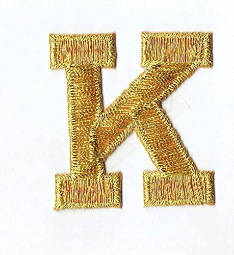"""Iron On Embroidered Applique LETTERS Golden Yellow  Script  2/"""" Letter /""""S/"""""""