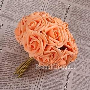 Foam Rose Flower - 10pcs Artificial Foam Rose Flowers Bridal Bouquet Diy Ornaments Wedding Home Party - Heads 13