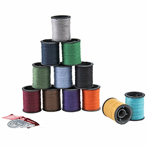 SINGER 60641 Polyester Hand Sewing Thread, Assorted Colors, 12 Small Spools