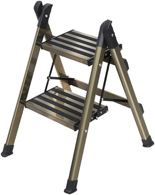 CXLO Escalera de Aluminio Liviana de Escalera 2/3/4 peldaños con Escalera Antideslizante Resistente y de Pedal Ancho para fotografía, hogar y Pintura 150 kg (Color champán): Amazon.es: Hogar