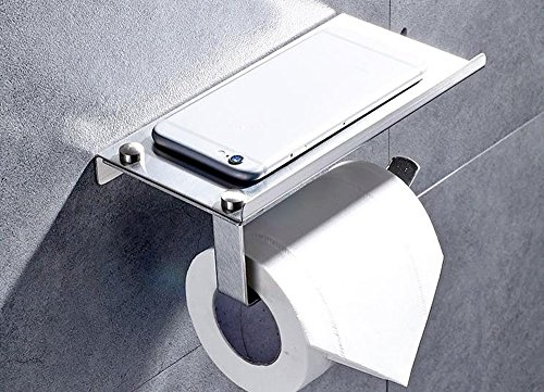 XVL Toilet tissue paper holder with mobile phone storage she