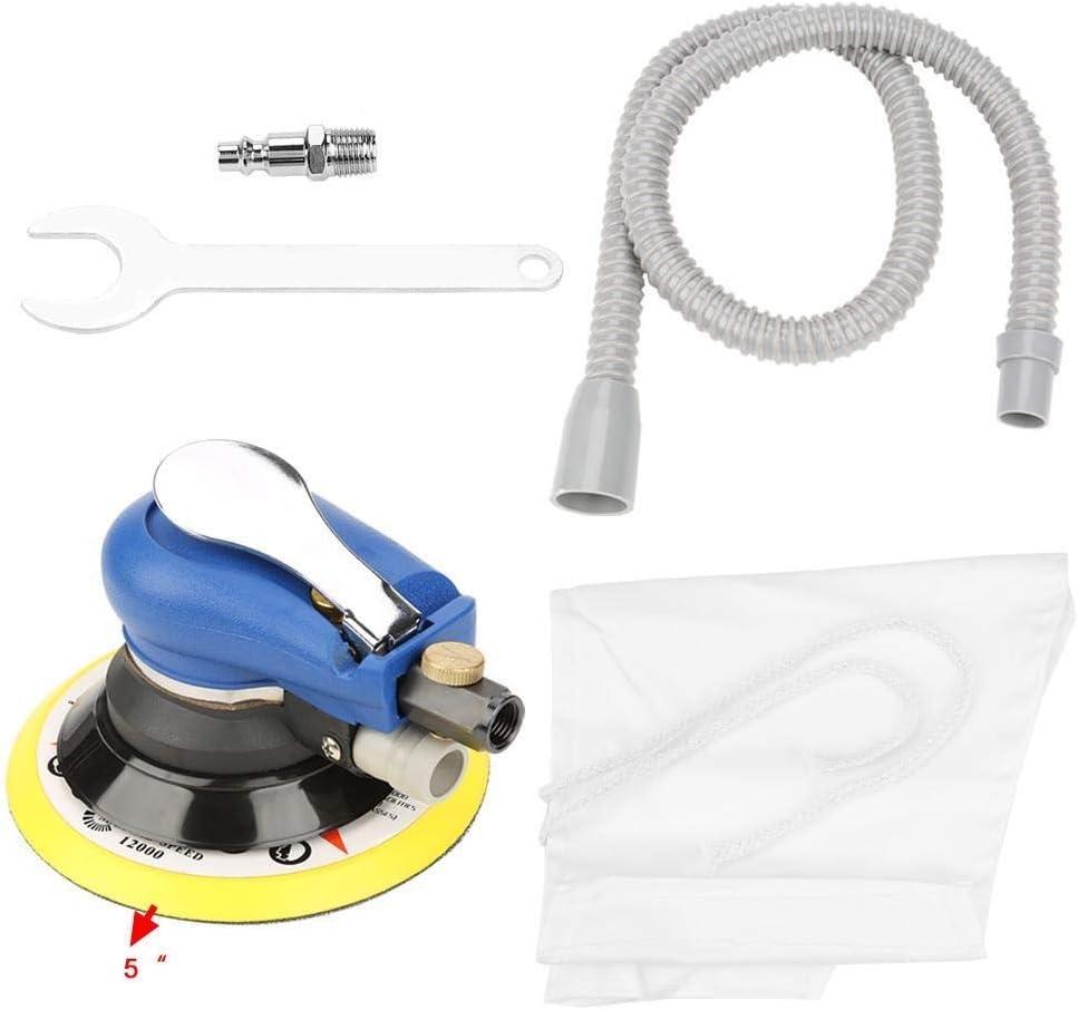 Broco 5in Ronda Sander Aspirador neumático de la máquina de pulido + vacío + Pipe bolsa de almacenamiento: Amazon.es: Bricolaje y herramientas