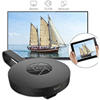 For Miracast Chromecast 2 Digital HDMI Media Video Streamer 2nd Generation 2017 (Black, A)