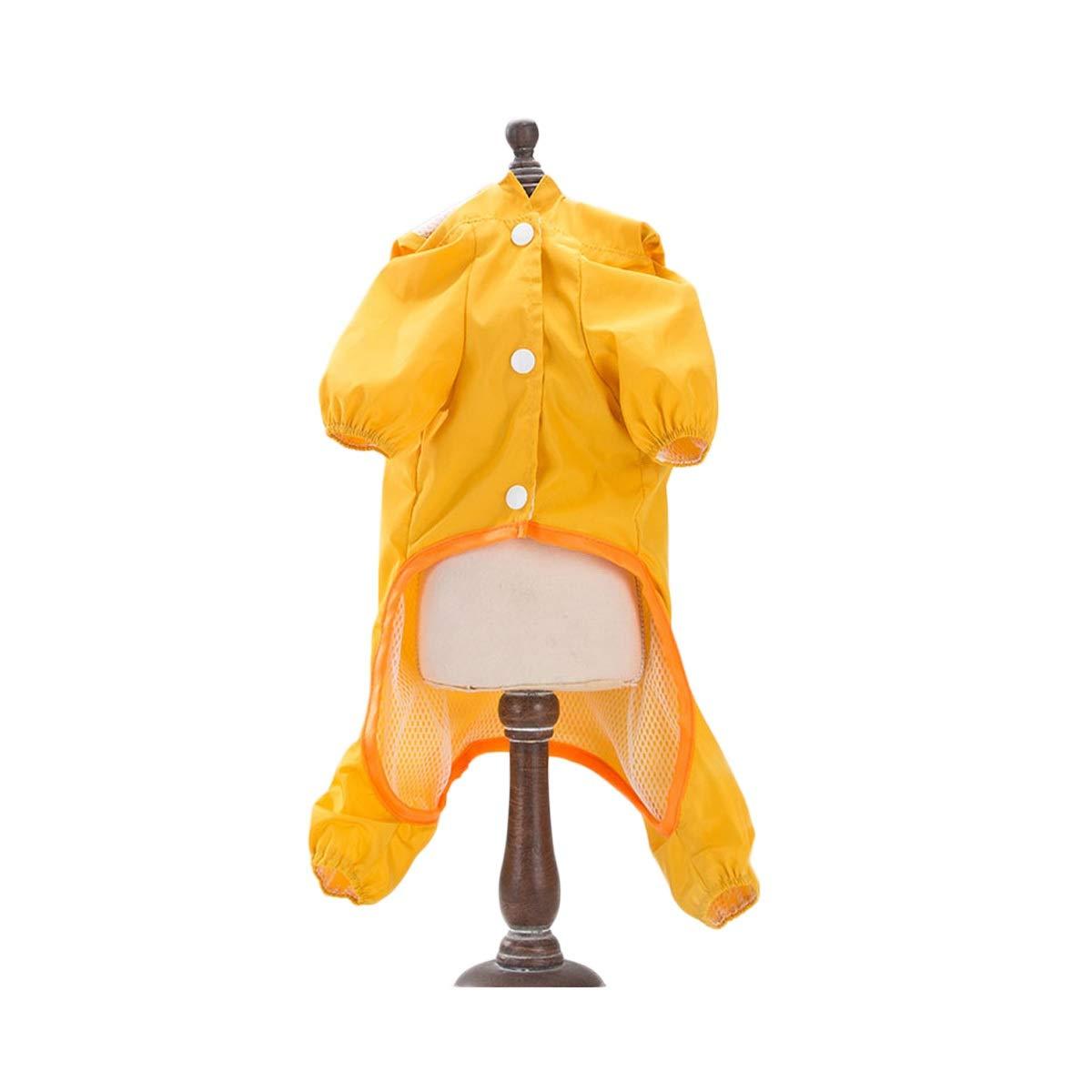 Duckling S Duckling S Xihouxian Dog Raincoat Dog Clothes Small Dog Medium Dog Waterproof Cute Dinosaur Duckling S M L XL XXL Raincoat (color   Duckling, Size   S)