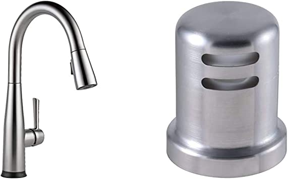 Delta Faucet Essa Single Handle Touch Kitchen Sink Faucet With Pull Down Sprayer Touch2o Technology And Magnetic Docking Spray Head Arctic Stainless 9113t Ar Dst Kitchen Air Gap Arctic Stainless Amazon Com