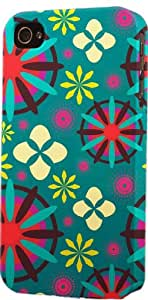 Bright Multi Colored Flower Pattern Dimensional Case Fits Apple iPhone 5 or iPhone 5s