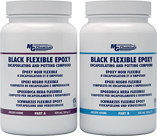Encapsulating Compound (MG Chemicals Black Flexible Epoxy Encapsulating and Potting Compound, 450 mL, 2-Part Kit,)