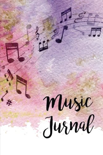 Music Journal: Lyric Diary and Manuscript Paper for Songwriters and Musicians. Manuscript Paper For Notes, Lyrics And Music. For Inspiration And ... Journal (Watercolor Violet Theme) (Volume 1)