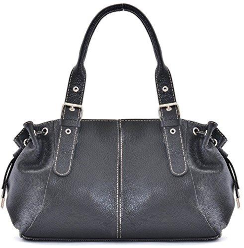 OH MY BAG Sac à Main CUIR femme - Modèle Princesse Noir