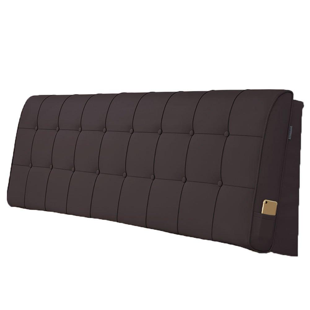 LIANGLIANG クッションベッドの背もたれ 2人用超大型ベッドボード付き快適なサポート、5サイズ、6色 (色 : Brown, サイズ さいず : Length 90cm) B07FRFWVXM Length 90cm|Brown Brown Length 90cm