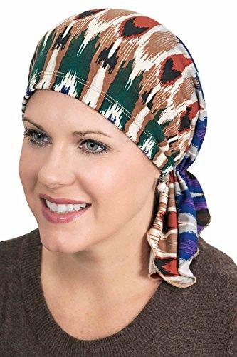 Slip-On Slinky Pre-Tied Head Scarf: Scarves for Cancer Patients, Chemo Sedona (Slinky Cap)