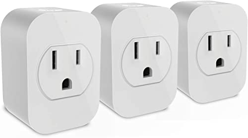 eco4life Smart Outlet, Mini Wifi Plug, Work with Alexa, Google Home, No Hub Needed, App Remote Control, Set Timer, UL certified 3 pack