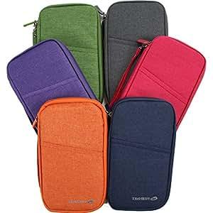 Vanki Multi-function Passport Holder Package Document Passport Wallet Credit card wallet Travel Accessories / Cover / Case / Holder (Gray)