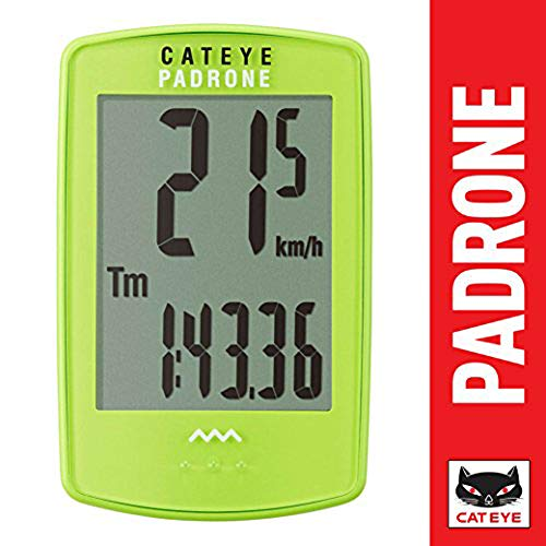 CAT EYE - Padrone Wireless Bike Computer, Green