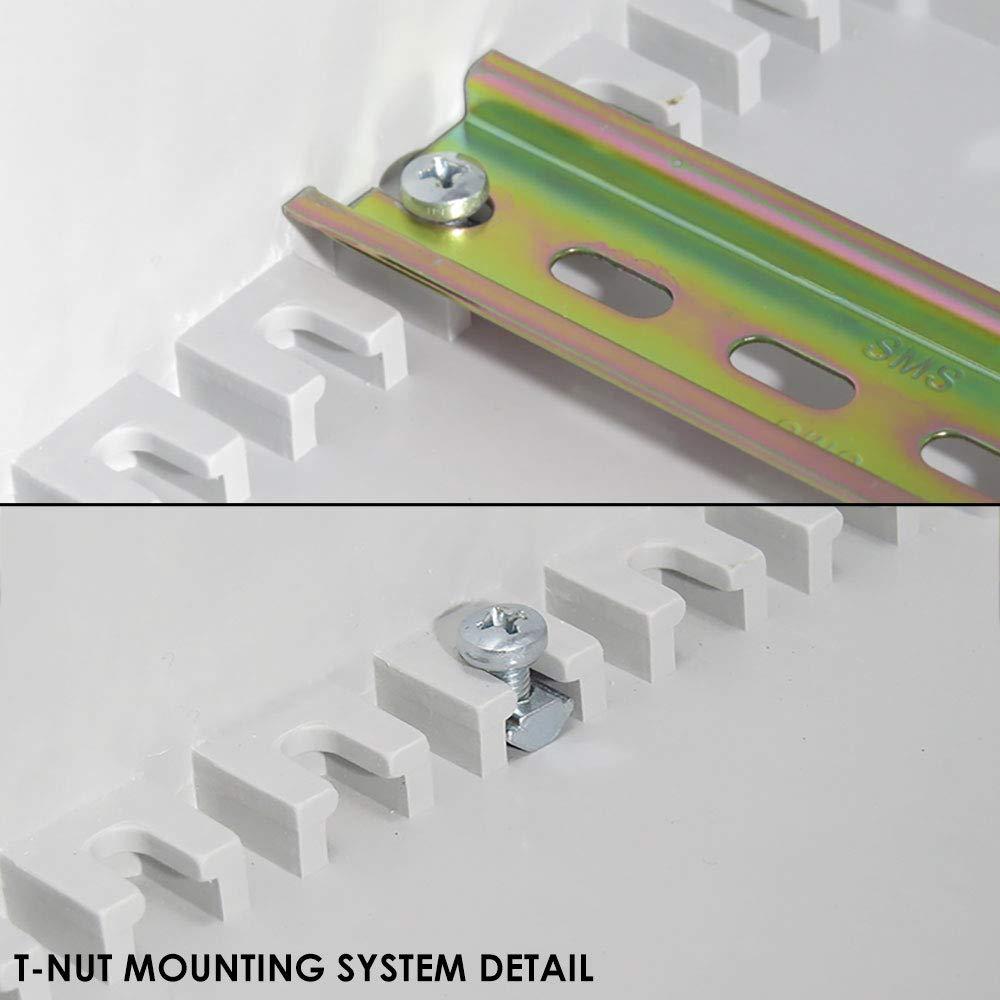 Altelix 20x16x8 Industrial DIN Rail FRP Fiberglass NEMA 3X Box Weatherproof Enclosure with Hinged Lid & Quarter-Turn Latches by Altelix (Image #5)