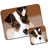 Extra Thick Rubber Mouse Pad / Mat - 9.6 x 7.5 x 0.2 inches - Jack Russell Terrier Puppy