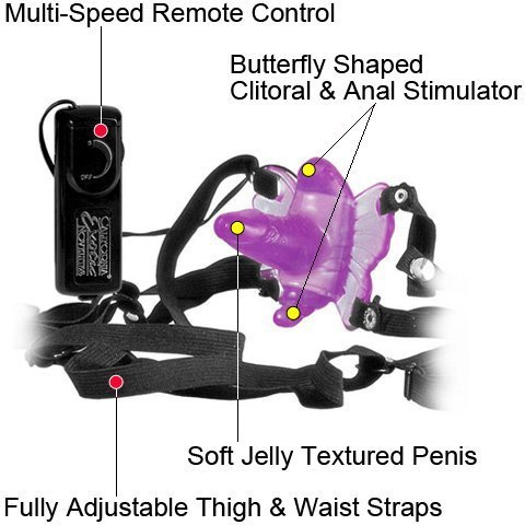 Venus Penis Butterfly Strap On Jelly Vibrator for Women