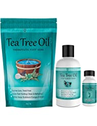 Purely Northwest Foot and Toenail System with 16 oz Tea Tree Oil Foot Soak, 9 fl oz Antifungal Tea Tree Oil Foot & Body Wash and 1 fl oz Tea Tree Nail Blend