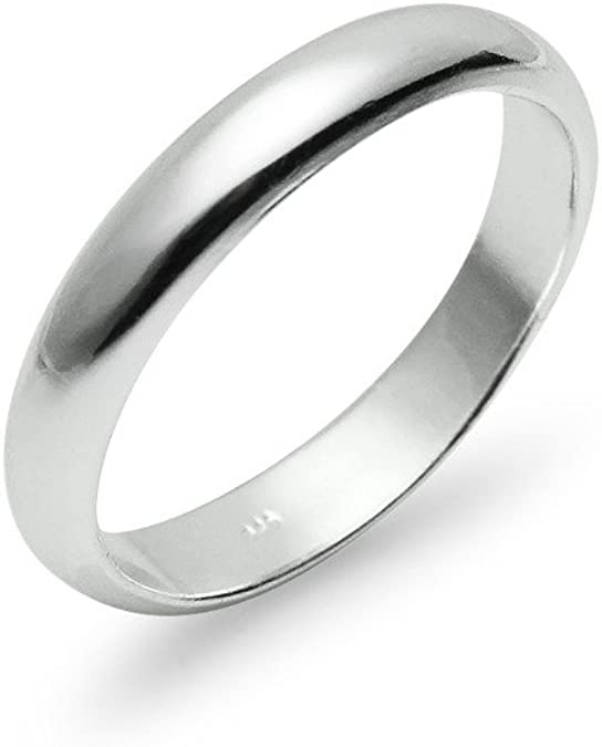 5 6mm Size 15 Handmade solid 990 Silver high polished glossy plain wedding Ring Band