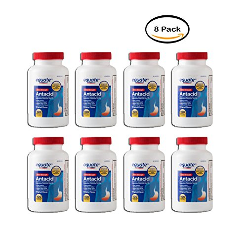 PACK OF 8 - Equate Extra Strength Antacid Chewable Tablets,