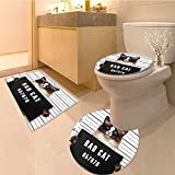 Alfombra de baño de 3piezas setcasino patrón de las tarjetas y triángulos ganador reproductor posibilidades eventos Creative Extra texturas antideslizante alfombrillas de baño contorno de inodoro, alfombra, 29.5'x18'/R19.5'/15'x18', Color 9