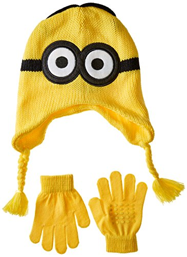 Despicable Me Boys' Little Reversible Laplander and Glove Set, Multi, One -