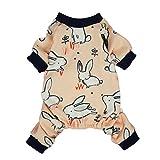 Fitwarm Pink Bunny Cotton Dog Pajamas Pet Clothes Shirts PJS Jumpsuit Large