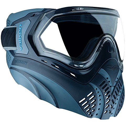 Blue Mask Paintball Lens - Valken Paintball Identity Goggle/Mask with Dual Pane Thermal Lens - Blue/Navy