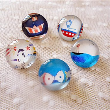 (Full marine style cameo glass badge brooch wholesale jewelry box store special film)