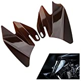 ECLEAR Saddle Shield Heat Air Deflector For Harley Touring FLHTC FLHRC FLTR FLHR FLHX 2008 - Smoke
