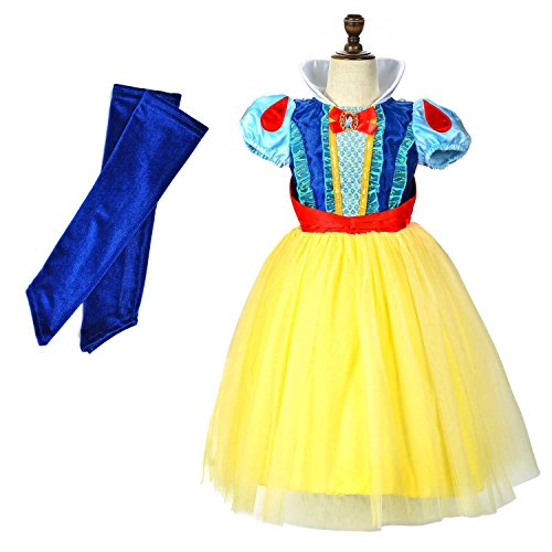 Snow White Costume Childrens (LOEL Snow White Princess Dress Up Coustume Party Girl Dress (4-5YS))