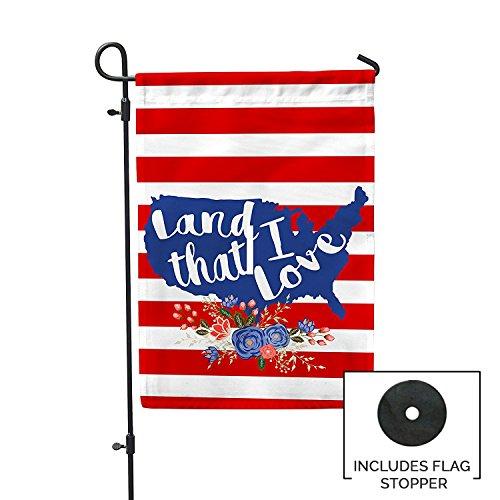 Second East Land I Love Garden Flag Outdoor Patio Seasonal H
