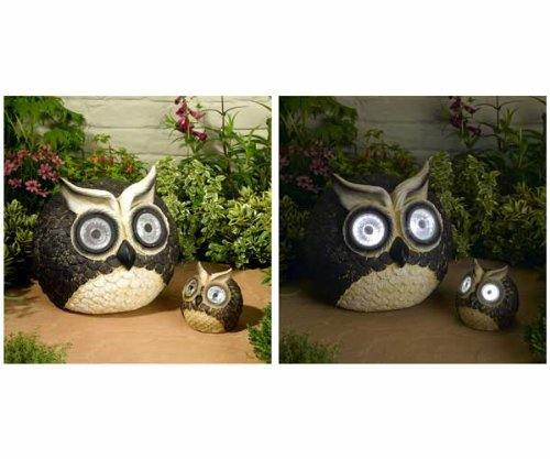 Solar Owl Accent Set – Great Garden Art, Auto Illuminate LEDs Review