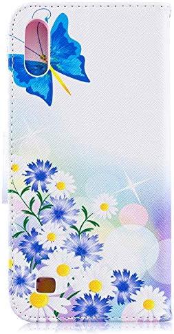 NEXCURIO Galaxy A10 Hülle Leder, Handyhülle Tasche Leder Flip Case Brieftasche Etui mit Kartenfach Stoßfest Kratzfest Schutzhülle für Samsung Galaxy A10 - NEBFE050005#5