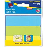 Avery 22011 - Removable Label Pads, 1 x 3, Assorted, 120/Pack-AVE22011