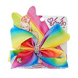 Claire's Girl's Jojo Siwa Small Rainbow Rhinestone Keeper Hair Bow