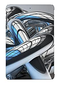 Case For Ipad Mini/mini 2 Tpu Phone Case Cover(shiny Metal Intricate Tubes) For Thanksgiving Day's Gift