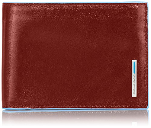 Piquadro Man's Wallet In Leather, Orange 1392, One Size by Piquadro