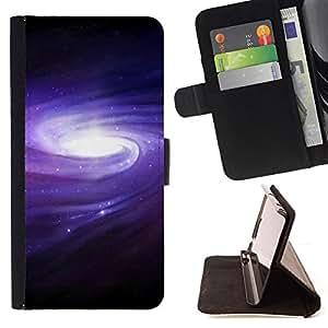 BullDog Case - FOR/Samsung Galaxy S4 IV I9500 / - / Galaxy Belt Of Stars Space /- Monedero de cuero de la PU Llevar cubierta de la caja con el ID Credit Card Slots Flip funda de cuer