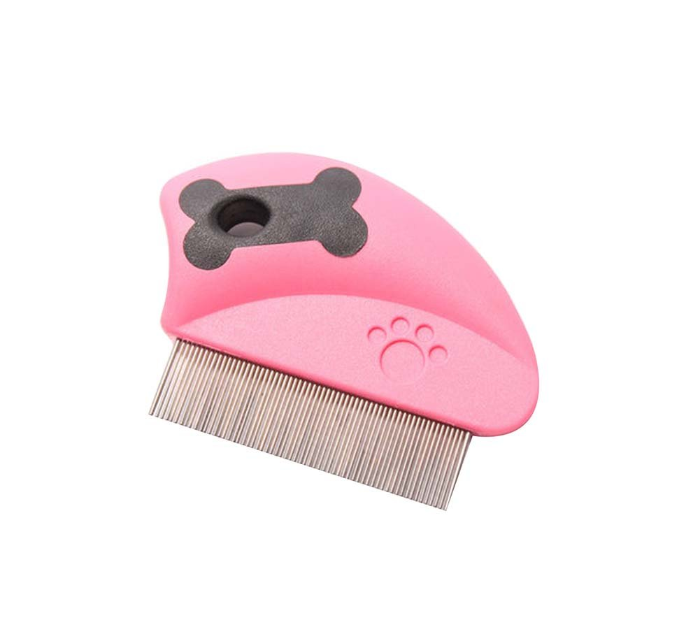 Panda Superstore Pink,2Pcs For Cats/Dogs Useful Pet Flea Combs/Grooming Comb