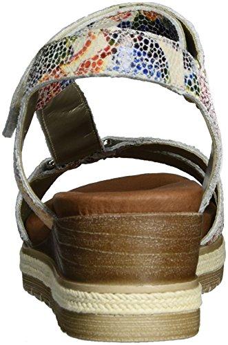 Remonte D6352, Sandalias con Cuña para Mujer Multicolor (Ice-multi/90)