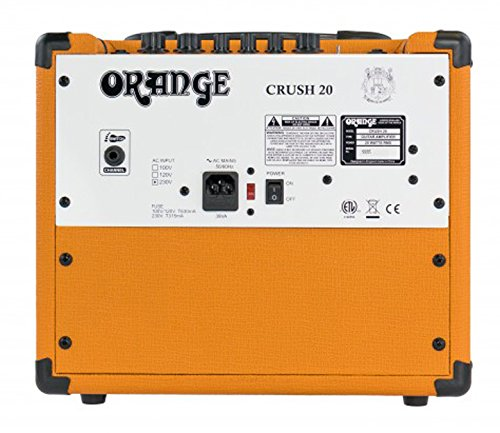 orange crush 20 amp 20w cr20 guitar combo amplifier footswitch cable bundle bassist hq. Black Bedroom Furniture Sets. Home Design Ideas