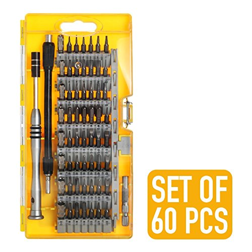 Screwdriver Set 60 in 1 Precision 38 Piece Magnetic Screwdriver Kit for Professional Electronics Repair Tool Kit Smartphone iPhone Tablet Macbook Xbox Cellphone PC Game Console Computer Gadgets by Screwdriver Set