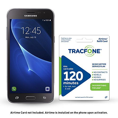 TracFone Samsung Galaxy J1 Luna 4G LTE Prepaid Smartphone with Free $30 Airtime Bundle