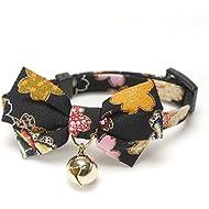 Necoichi Kimono Bow Tie Cat Collar (Black)