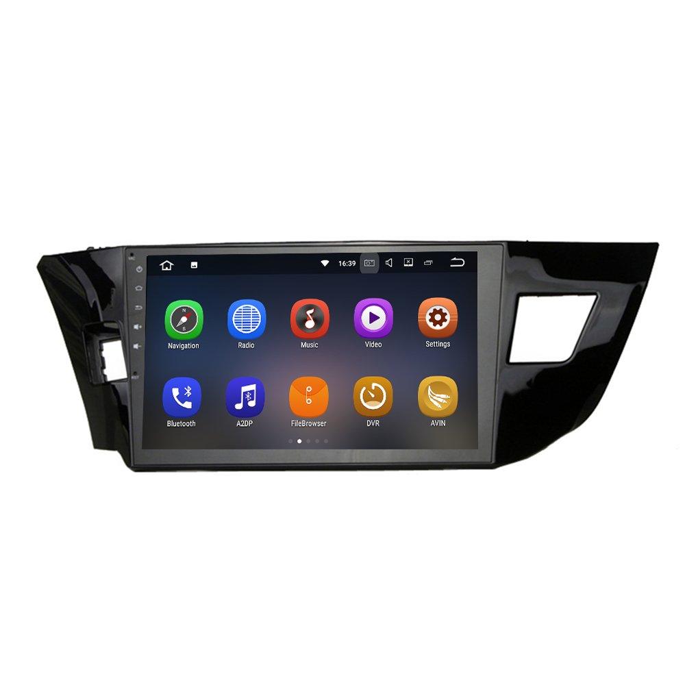 SYGAV Double Din Android 7.1.1 Nougat 2G RAM Car Stereo for 2014-2016 Toyota Corolla 10.2 Inch Touch Screen GPS Sat Navigation Audio FM AM Radio LCD Monitor Head Unit