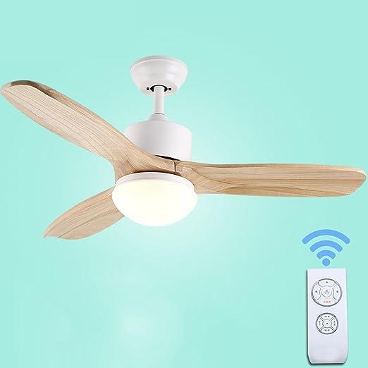 Hojas de madera Inicio Ventilador de techo Luz Minimalista Sala de ...