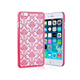 """iPhone 6/6s Henna Flower Hard Back Phone Case / Cover for Apple iPhone 6S 6 (4.7"""") / Screen Protector & Cloth / iCHOOSE / Hot Pink"""