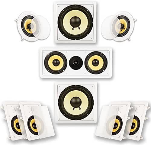 Acoustic Audio HD726 7.2 Home Theater Speaker System (White)