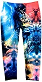 Crush Galaxy Girls Toddler & Youth Printed Leggings in Blue Black (2T-4T, Black-Blue)